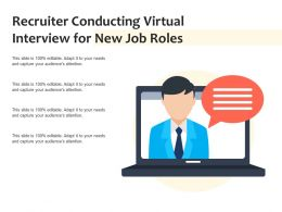 Recruiter Conducting Virtual Interview For New Job Roles