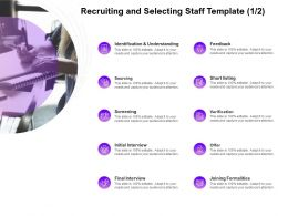 Recruiting And Selecting Staff Screening Ppt Powerpoint Presentation Visual