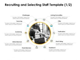 Recruiting And Selecting Staff Sourcing Ppt Powerpoint Presentation Icons