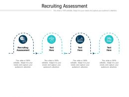 Recruiting Assessment Ppt Powerpoint Presentation Model Picture Cpb