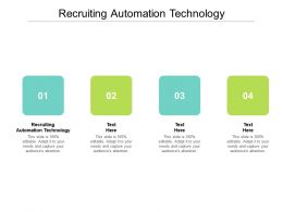 Recruiting Automation Technology Ppt Powerpoint Presentation Portfolio Inspiration Cpb