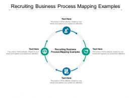 Recruiting Business Process Mapping Examples Ppt Powerpoint Presentation Pictures Diagrams Cpb