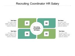 Recruiting Coordinator HR Salary Ppt Powerpoint Presentation Outline Tips Cpb