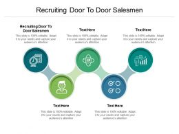 Recruiting Door To Door Salesmen Ppt Powerpoint Presentation Gallery Introduction Cpb