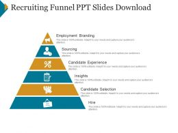 Recruiting Funnel Ppt Slides Download