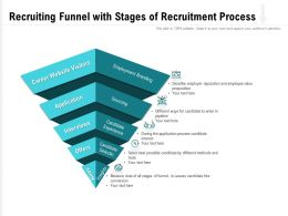 Recruiting Funnel With Stages Of Recruitment Process
