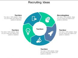 Recruiting Ideas Ppt Powerpoint Presentation Icon Slides Cpb