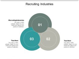 Recruiting Industries Ppt Powerpoint Presentation Gallery Good Cpb