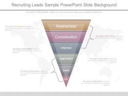 Recruiting Leads Sample Powerpoint Slide Background