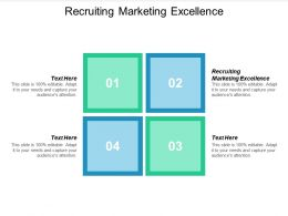 Recruiting Marketing Excellence Ppt Powerpoint Presentation File Aids Cpb