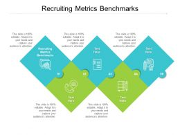 Recruiting Metrics Benchmarks Ppt Powerpoint Presentation Styles Influencers Cpb