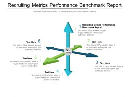 Recruiting Metrics Performance Benchmark Report Ppt Powerpoint Presentation Show Introduction Cpb