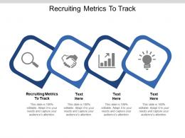 Recruiting Metrics To Track Ppt Powerpoint Presentation Inspiration Influencers Cpb