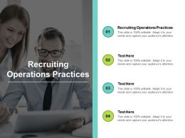 Recruiting Operations Practices Ppt Powerpoint Presentation Show Graphic Tips Cpb