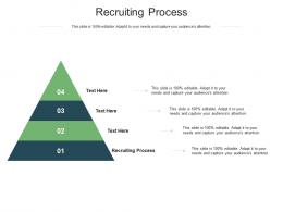 Recruiting Process Ppt Powerpoint Presentation Ideas Information Cpb