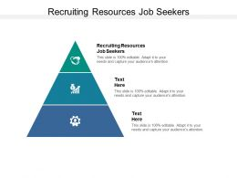 Recruiting Resources Job Seekers Ppt Powerpoint Presentation Outline Cpb