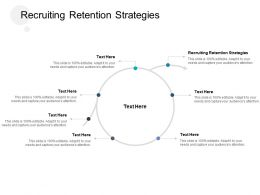 Recruiting Retention Strategies Ppt Powerpoint Presentation Show Slide Download Cpb