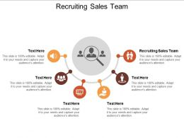 Recruiting Sales Team Ppt Powerpoint Presentation Layouts Images Cpb