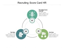 Recruiting Score Card HR Ppt Powerpoint Presentation Outline Demonstration Cpb