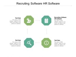 Recruiting Software HR Software Ppt Powerpoint Presentation Diagram Graph Charts Cpb