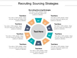 Recruiting Sourcing Strategies Ppt Powerpoint Presentation Styles Good Cpb