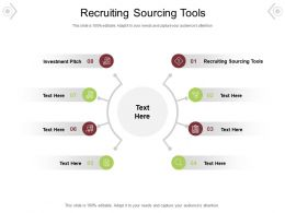 Recruiting Sourcing Tools Ppt Powerpoint Presentation Professional Maker Cpb