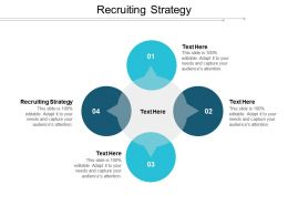 Recruiting Strategy Ppt Powerpoint Presentation Gallery Design Templates Cpb