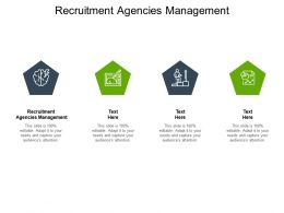 Recruitment Agencies Management Ppt Powerpoint Presentation Slide Cpb