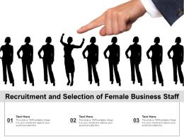 Recruitment And Selection Of Female Business Staff