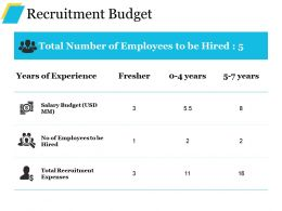 Recruitment Budget Example Of Ppt Presentation