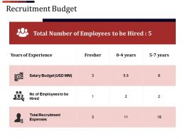 Recruitment Budget Ppt Background Designs