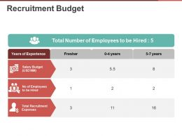 Recruitment Budget Ppt Examples Slides