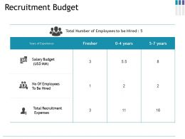 Recruitment Budget Ppt Gallery Aids