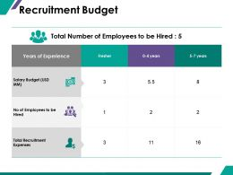 Recruitment Budget Ppt Summary Graphic Images