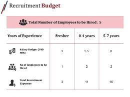 Recruitment Budget Presentation Powerpoint Templates