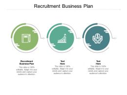Recruitment Business Plan Ppt Powerpoint Presentation Model Infographics Cpb