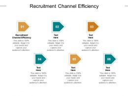 Recruitment Channel Efficiency Ppt Powerpoint Presentation Visual Aids Slides Cpb