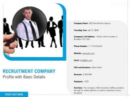Recruitment Company Profile With Basic Details