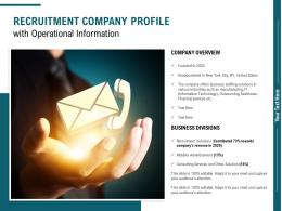 Recruitment Company Profile With Operational Information