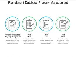 Recruitment Database Property Management Ppt Powerpoint Presentation Inspiration Summary Cpb