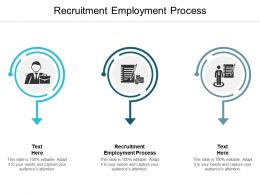Recruitment Employment Process Ppt Powerpoint Presentation Deck Cpb