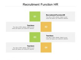 Recruitment Function HR Ppt Powerpoint Presentation Pictures Elements Cpb