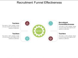 Recruitment Funnel Effectiveness Ppt Powerpoint Presentation File Show Cpb