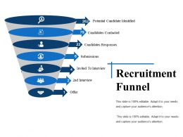 Recruitment Funnel Powerpoint Slide Presentation Examples