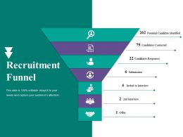 Recruitment Funnel Ppt Gallery Brochure