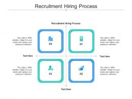 Recruitment Hiring Process Ppt Powerpoint Presentation Layouts Layout Ideas Cpb