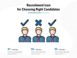 Recruitment Icon For Choosing Right Candidates