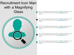 Recruitment Icon Man With A Magnifying Glass