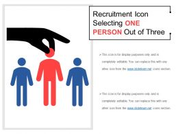Recruitment Icon Selecting One Person Out Of Three