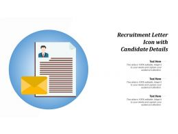 Recruitment Letter Icon With Candidate Details